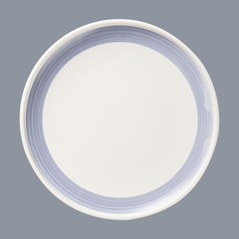 OEM 16 piece porcelain dinner set blue black round blue and white porcelain