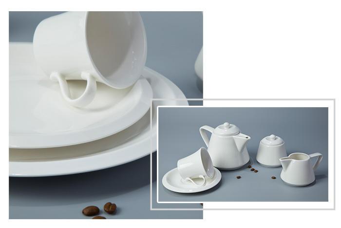 Two Eight white porcelain tableware white casual restaurant dish