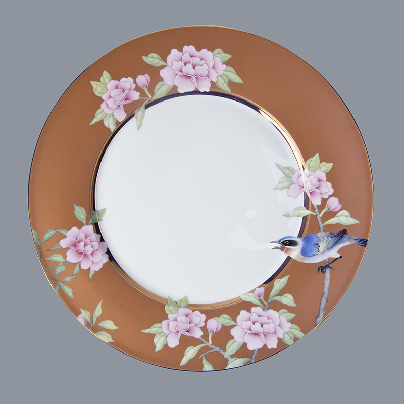 Hot fine white porcelain dinnerware teahouse colored classic Two Eight Brand