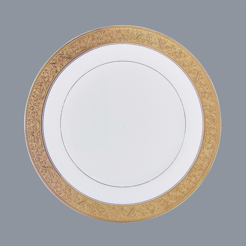 hotel golden fine white porcelain dinnerware Two Eight manufacture