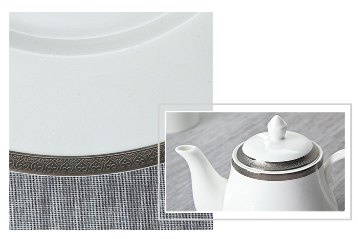 teahouse royal fine white porcelain dinnerware elegant mixed Two Eight Brand