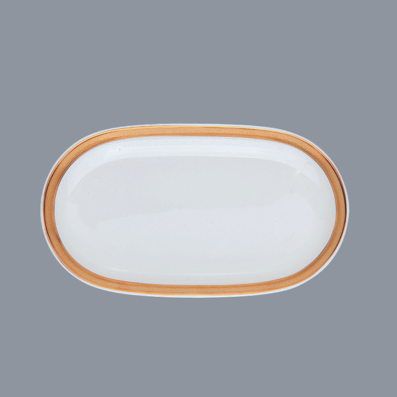 hotel decal fine white porcelain dinnerware plate white Two Eight Brand