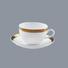 fine white porcelain dinnerware rim Two Eight Brand fine china tea sets
