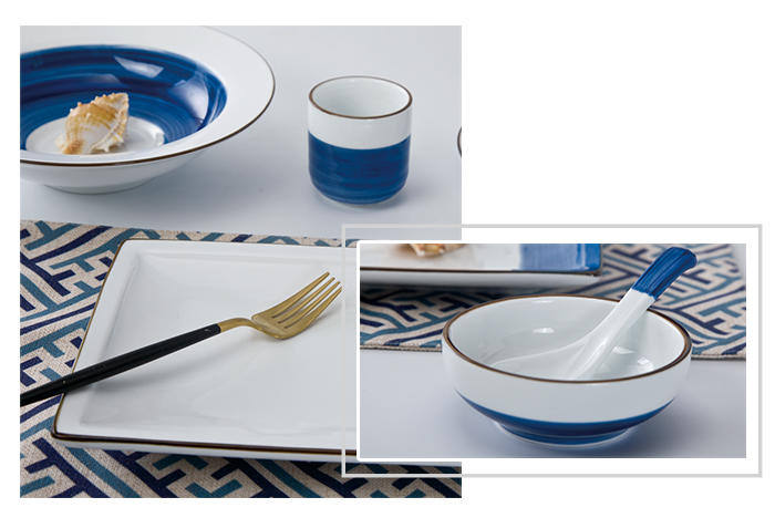 Hot 16 piece porcelain dinner set style blue and white porcelain decal Two Eight