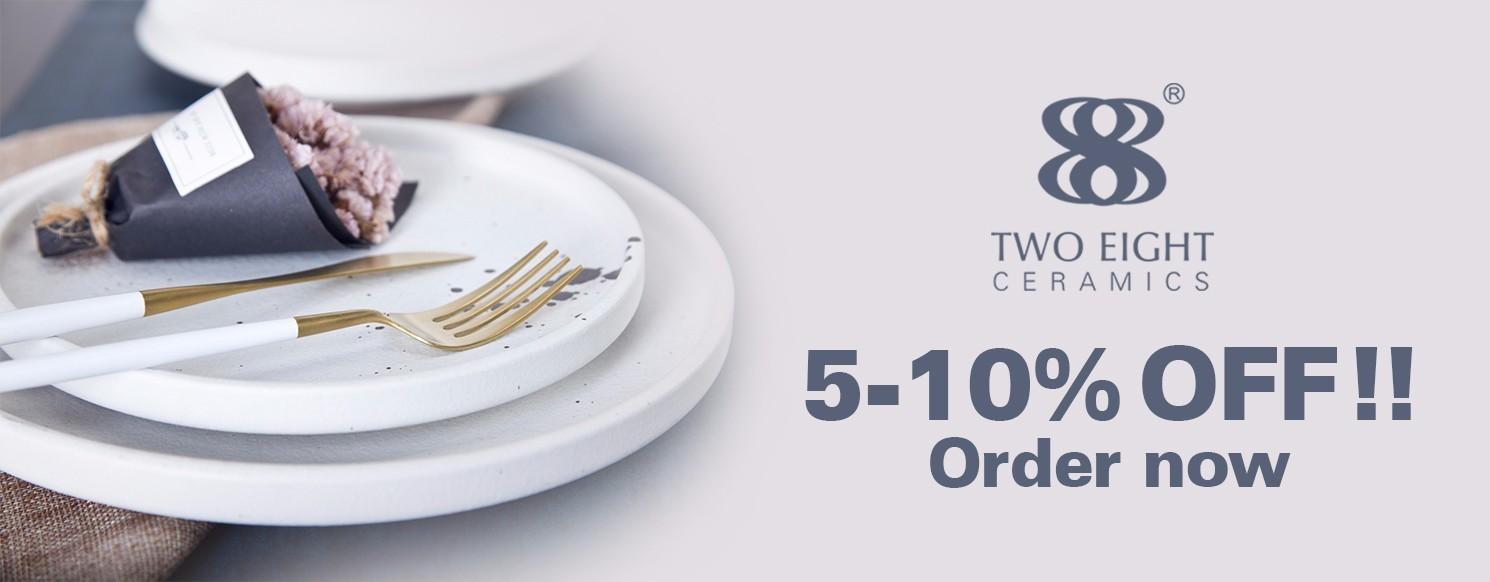 Two Eight Brand porcelain elegant custom 16 piece porcelain dinner set