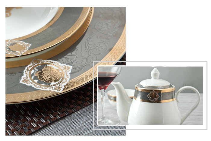 Royal Style Decal Fine Bone china Dinnerware sets