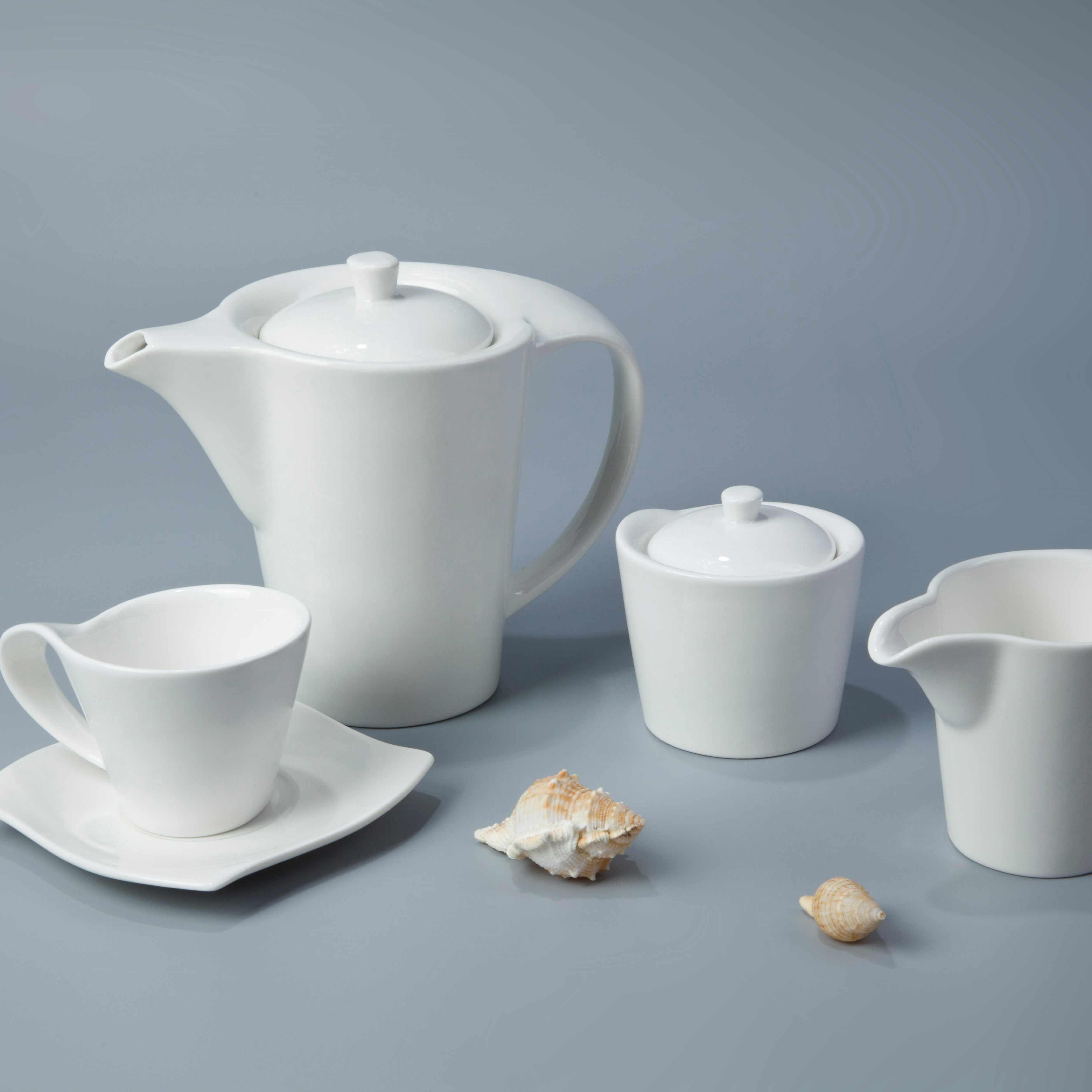 Two Eight White ceramic dinnerware set - FENG CHE SERIES White Porcelain Dinner Set image8