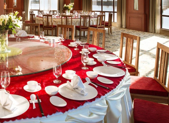 Two Eight-Custom Restaurant Dinnerware Landmark Mekong Riverside Hotel - 28 Ceramic Dinnerware Sets-3