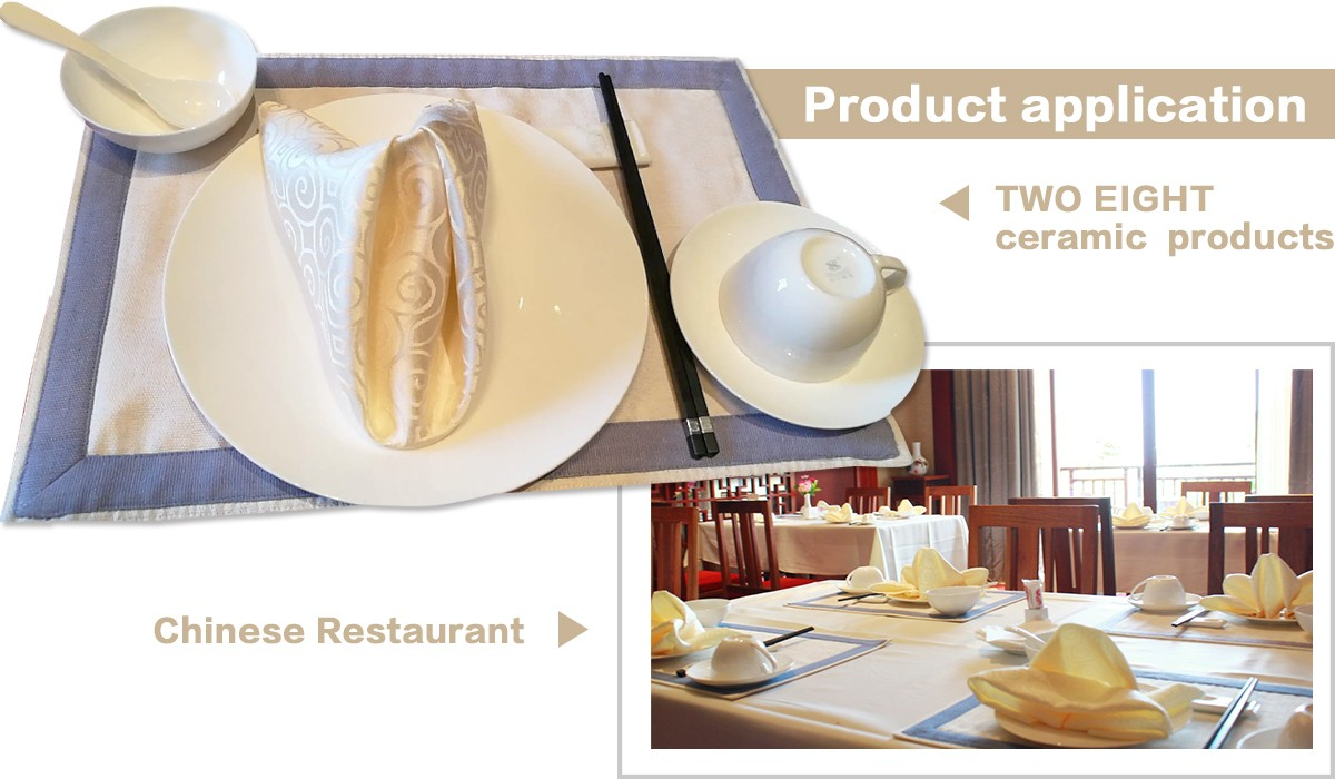 Two Eight-Custom Restaurant Dinnerware Landmark Mekong Riverside Hotel - 28 Ceramic Dinnerware Sets-4