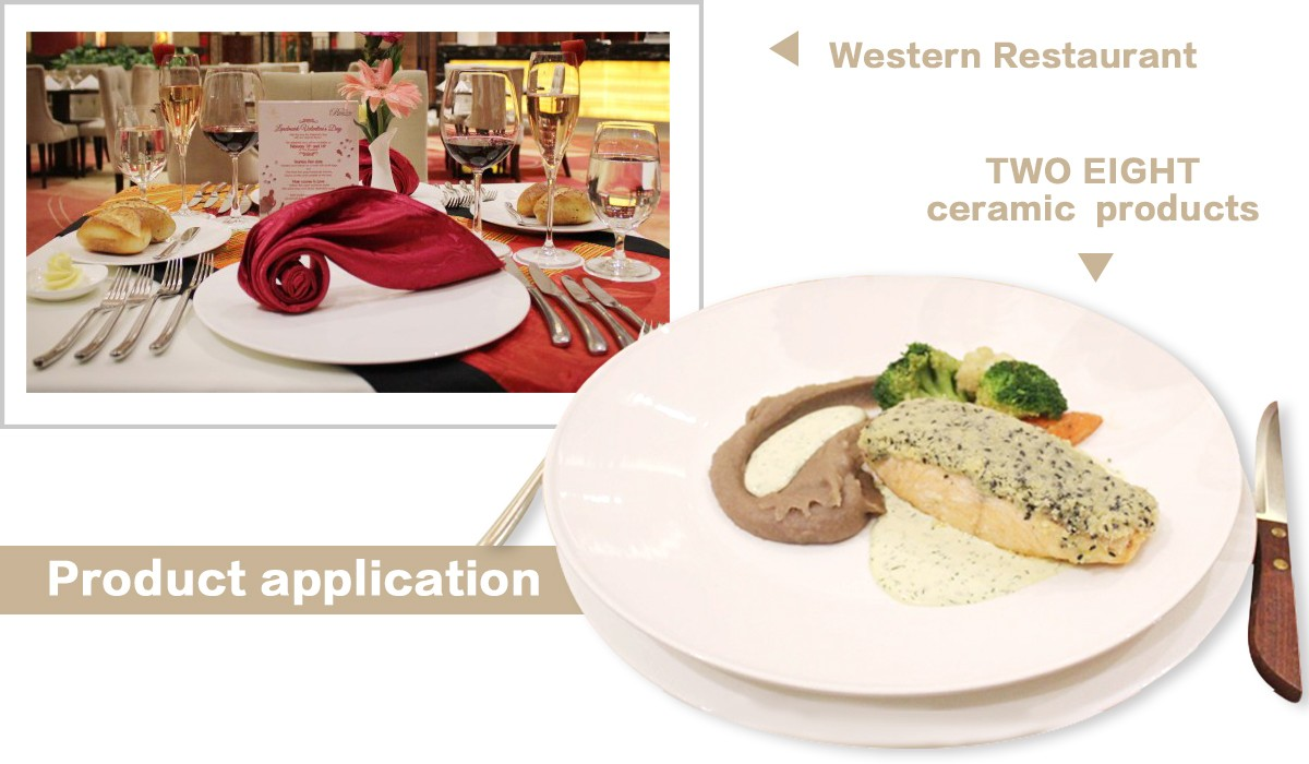 Two Eight-Custom Restaurant Dinnerware Landmark Mekong Riverside Hotel - 28 Ceramic Dinnerware Sets-6