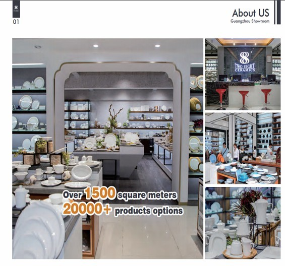 2020 New collection color dinnerware set catalog