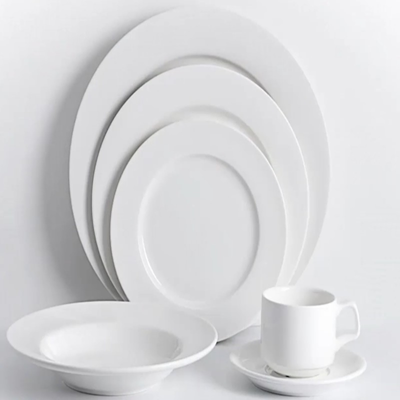 Two Eight Ceramics Custom Porcelain White Restaurant Dishes Modern Bone china Hotel Dinner Plates