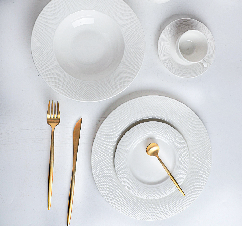 2020 Hotel & restaurant White ceramics set
