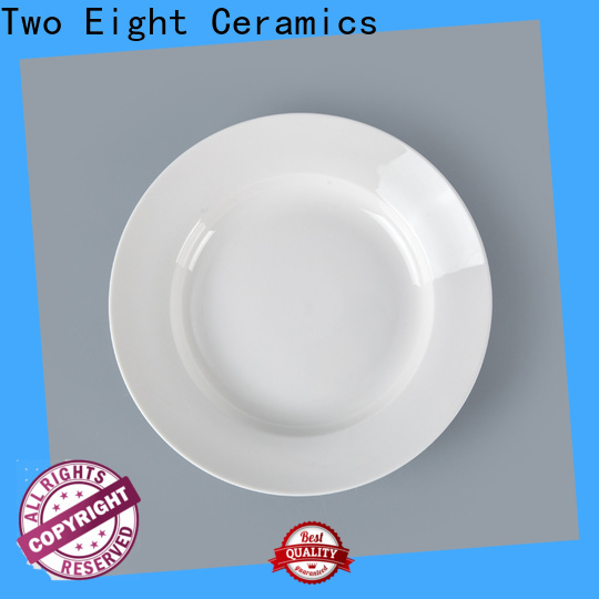 Two Eight New bone china plates factory for bistro