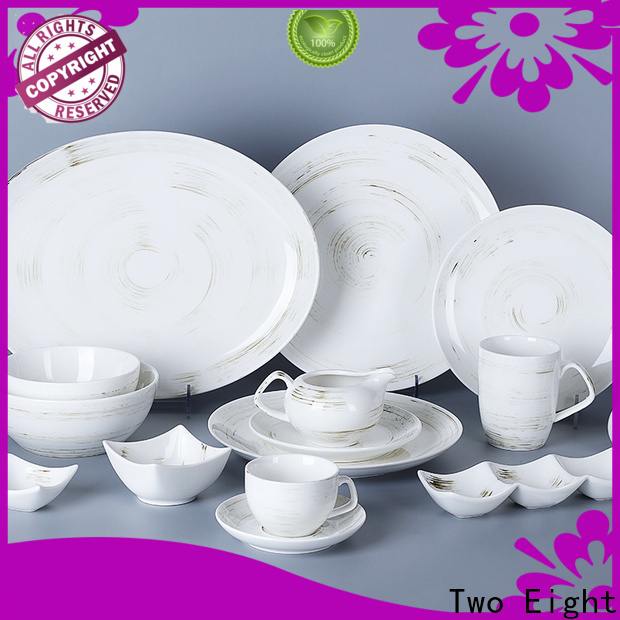 Two Eight Wholesale restaurant style dinner plates manufacturers for dinner