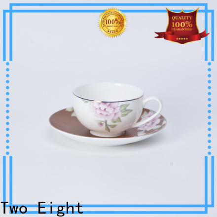 Two Eight porcelain coffee cups for business for home