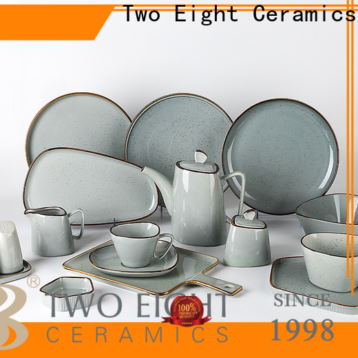 Two Eight Latest cheap porcelain dinner plates factory for hotel