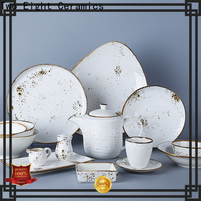 Custom hotel collection porcelain dinnerware company for restaurant