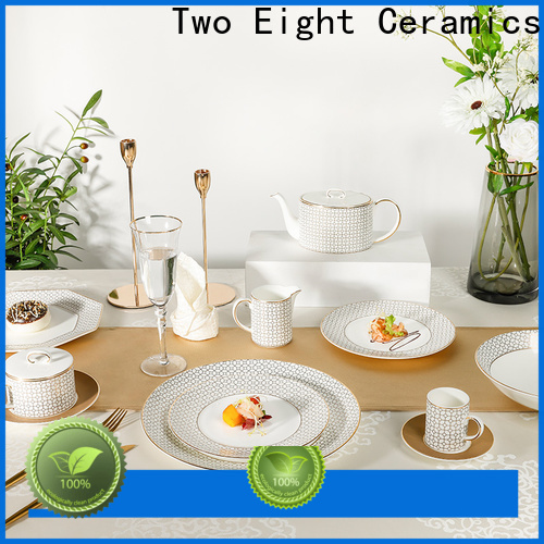 Two Eight fine china tea sets for business for dinning room