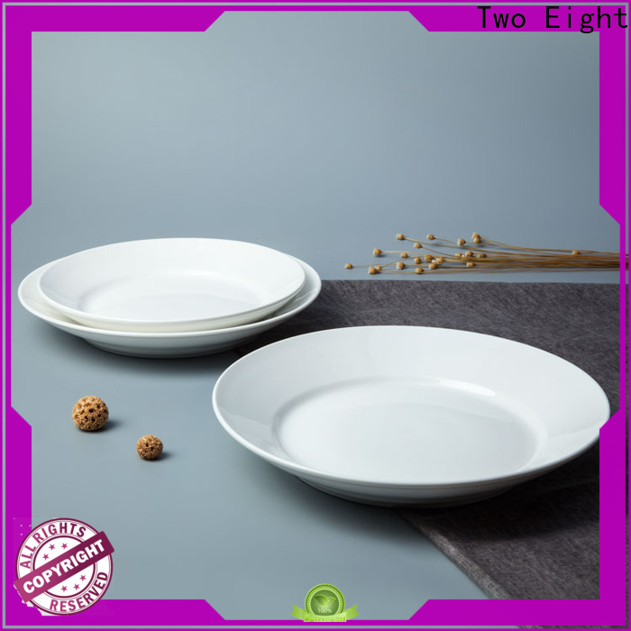 Two Eight Latest white dinner plates manufacturers for dinner