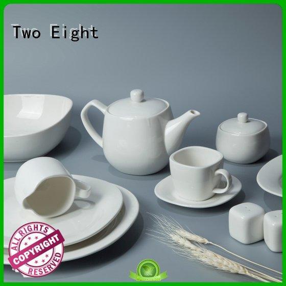 white white dinner sets Two Eight white porcelain tableware
