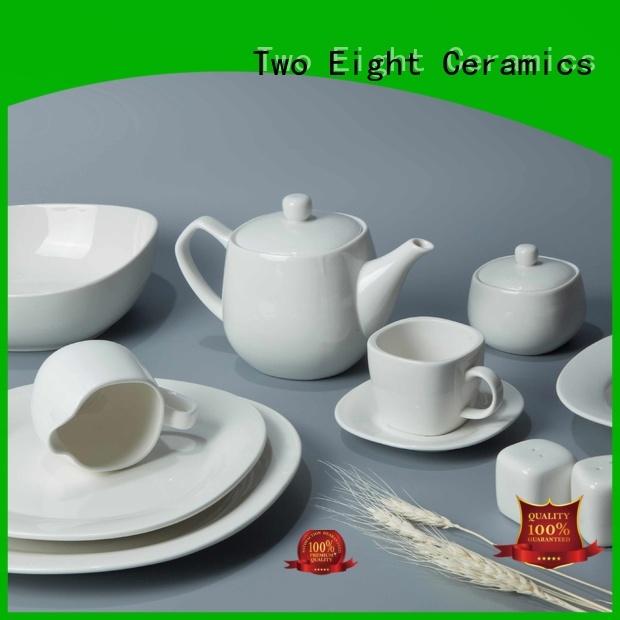 elegant style white porcelain tableware hotel white Two Eight Brand