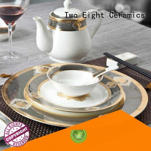 Two Eight royal restaurant dishes wholesale factory price for restaurant