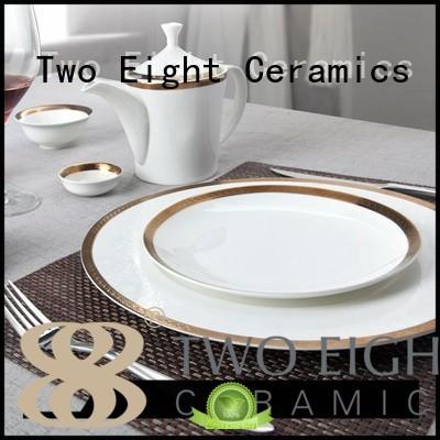 rose fresh fine white porcelain dinnerware modern Two Eight company