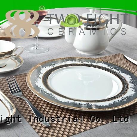 navy fine white porcelain dinnerware men royal Two Eight Brand