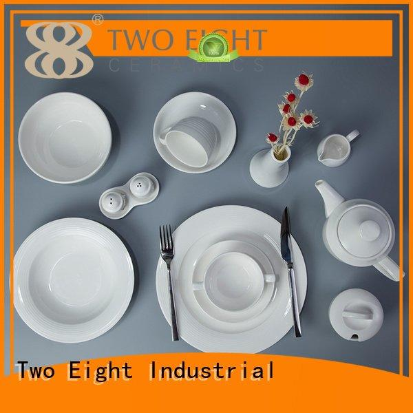 white porcelain tableware smooth fang Two Eight Brand white dinner sets