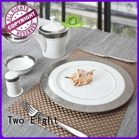 Two Eight grey restaurant tableware wholesale for teahouse