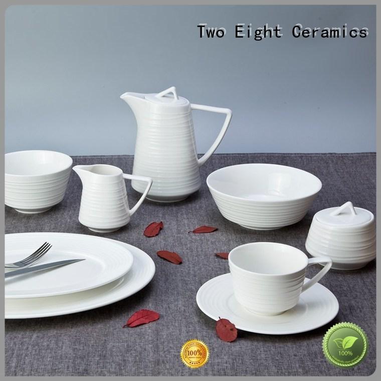 huan rim quan dinnerware white porcelain tableware Two Eight Brand