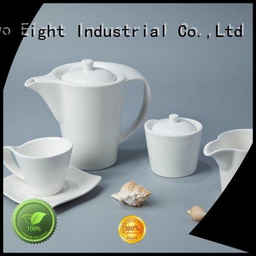 glaze plate Two Eight white porcelain tableware