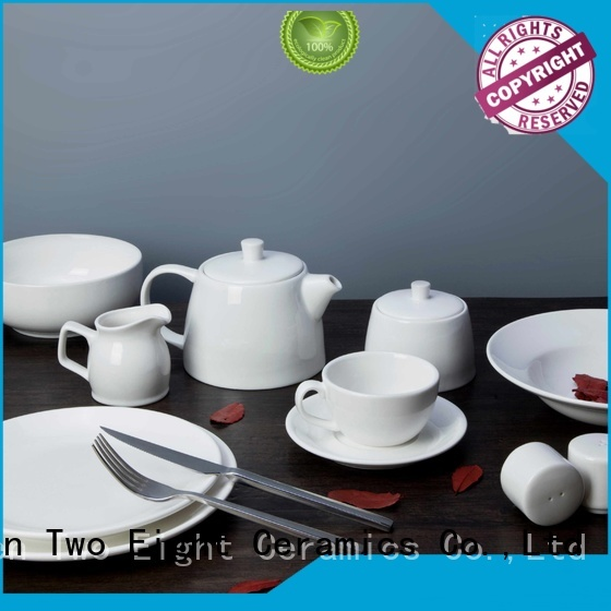 German style commercial china dinnerware rim for restaurant Two Eight