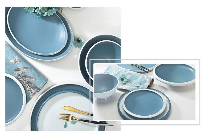Two Eight navy restaurant dinner plates manufacturer for bistro-1