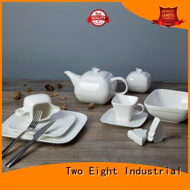 Wholesale plate sample white dinner sets Two Eight Brand