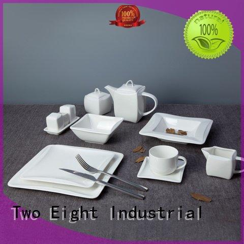 Two Eight color contemporary royal white porcelain tableware meng