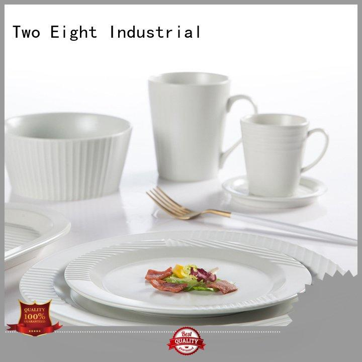 Wholesale plate green blue and white porcelain Two Eight Brand