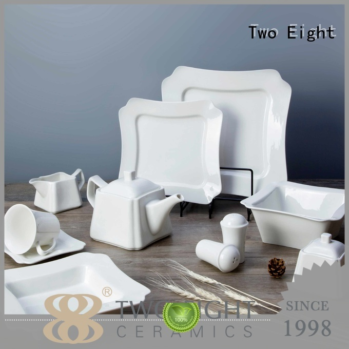 white porcelain tableware smooth two eight ceramics Two Eight Brand