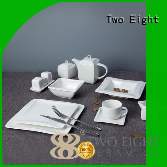 white porcelain tableware modern contemporary style Two Eight Brand company