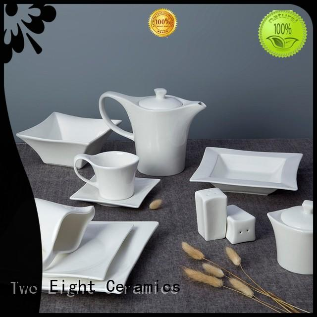 Two Eight smooth casual bone china dinnerware series for kitchen