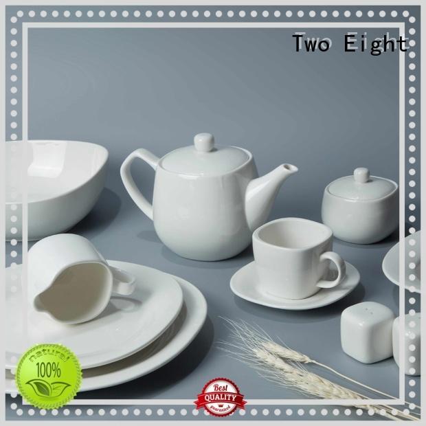 Two Eight royal white china dinnerware sets bulk for dinning room