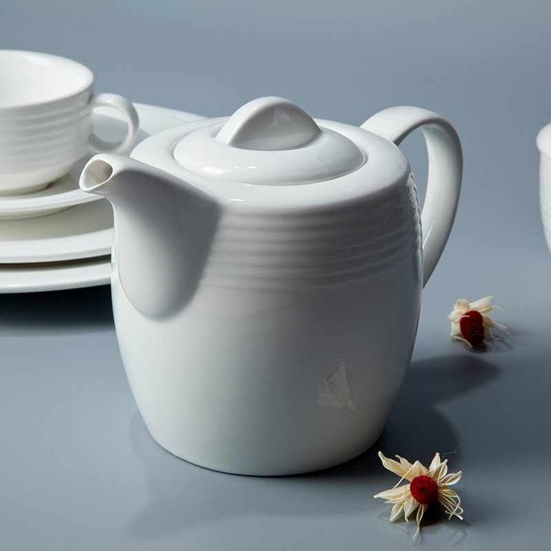 French Style Embossed White Color Porcelain Dinnerware Sets - TW01