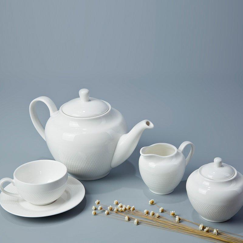 Contemporary Sample Style Round White Porcelain Dinner Set - TW03
