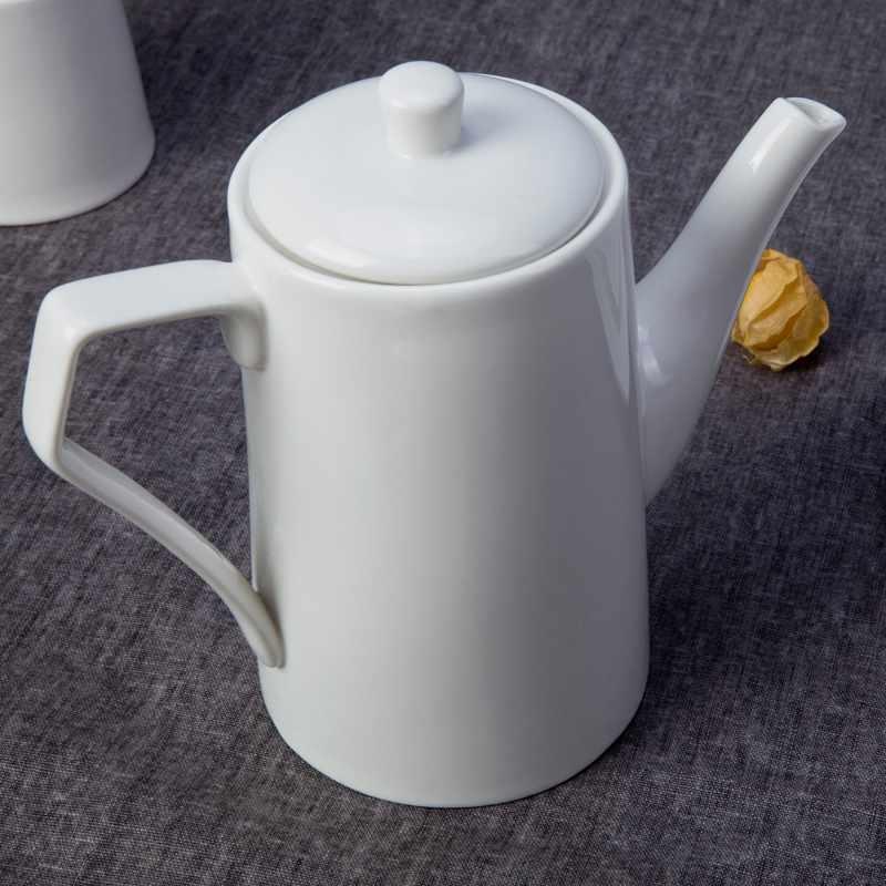 Open Stock Italian Style White Ceramic Dinnerware Sets for Restaurant - TW07