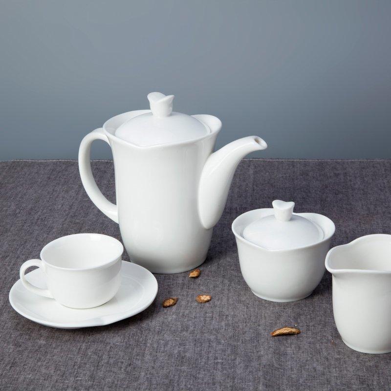 New Style Irregular Rim White Ceramic Dinner Set for Hotel - TW08