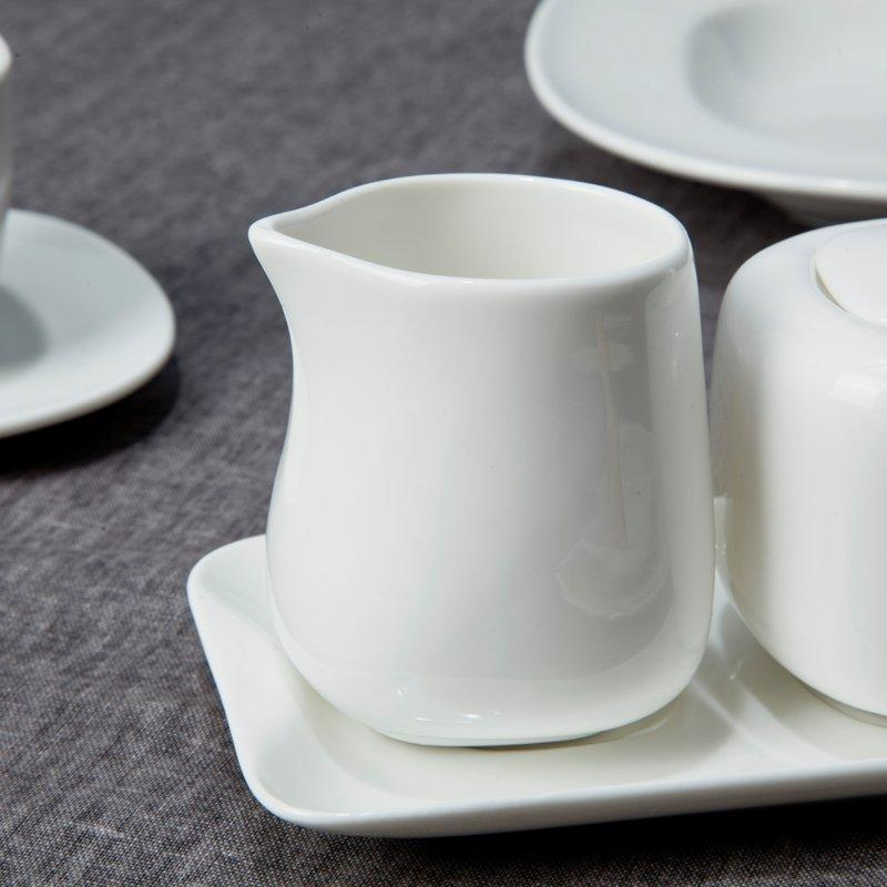 Royalty Style White Ceramic Dinnerware Sets with Smooth Surface - TW10