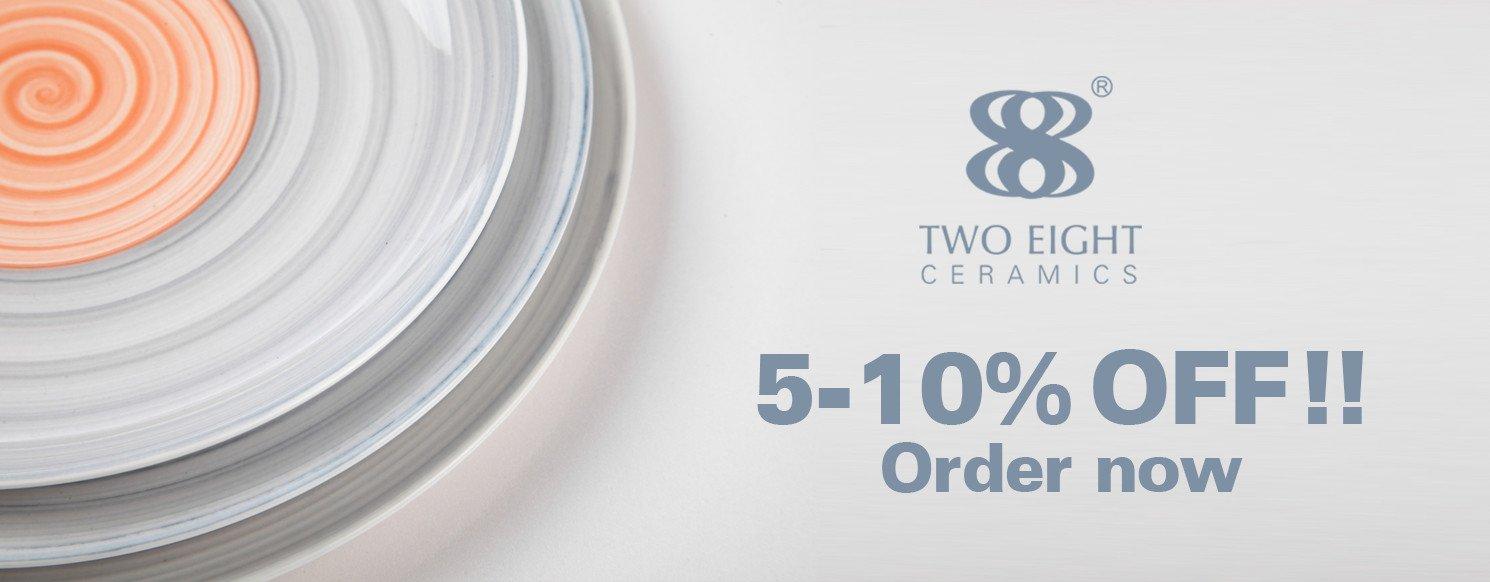 Two Eight durable cream colored porcelain dinnerware round for kitchen-38