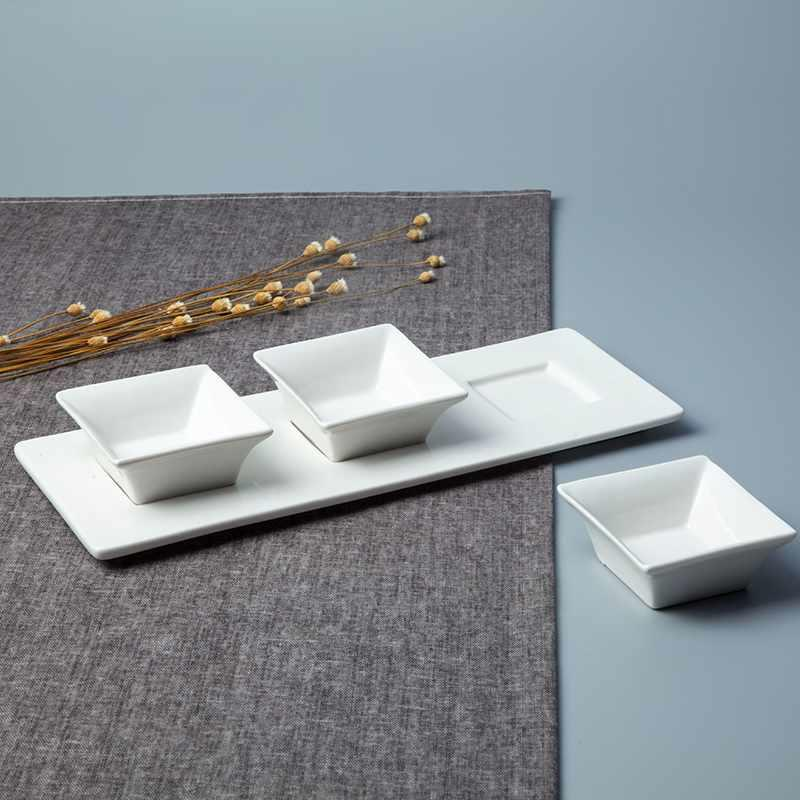 Chinese Style Square Porcelain Dinnerware Accessories- TA02