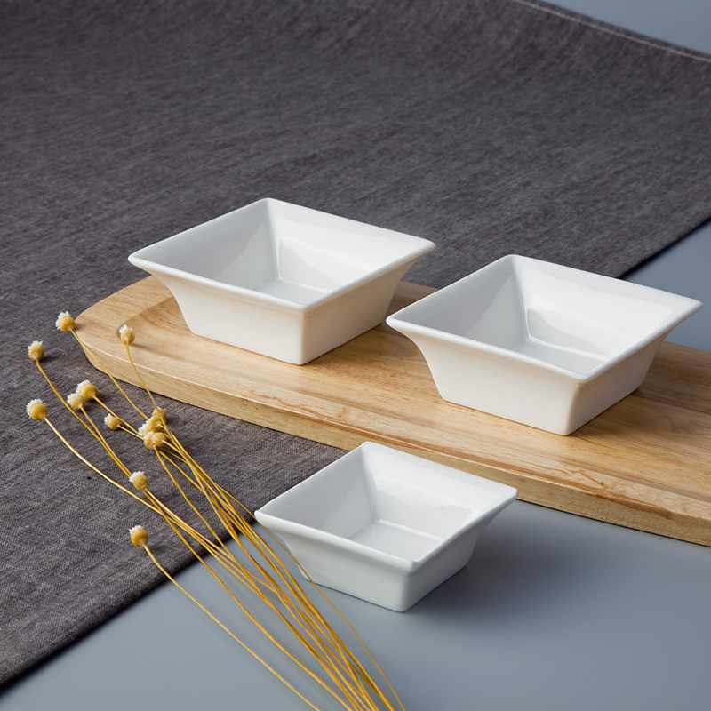 Two Eight-Chinese Style Square Porcelain Dinnerware Accessories- TA02